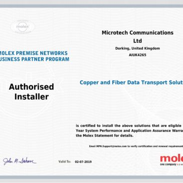 Microtech are an Molex authorised installer